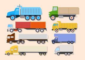Vecteurs de camions plats vecteur
