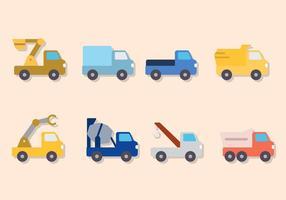Vecteurs de camions plats