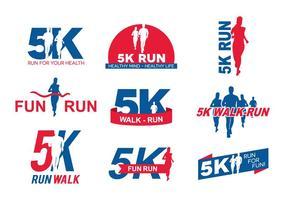 Logo de course 5k vecteur