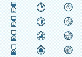 Set minuteries icônes