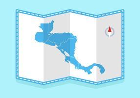 Gratuit en circulation Amérique centrale Carte Vecteurs vecteur