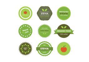 Badges d'aliments naturels vecteur
