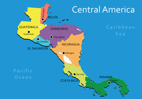 Vecteur Amérique Centrale Carte