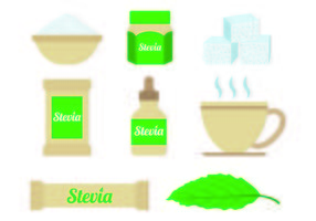 Ensemble de vecteurs sucre Stevia vecteur