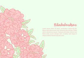 Contexte Rhododendron vecteur