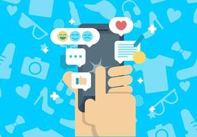 Médias sociaux Témoignages Historique vecteur