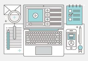 Design plat vecteur libre Illustration des médias numériques