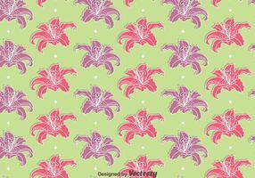Rose et violet Rhododendron Fleurs vecteurs de modèle sans couture vecteur