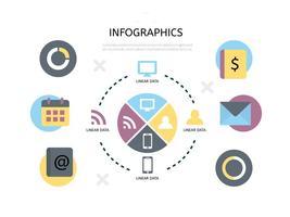 Design plat vecteur libre infographique