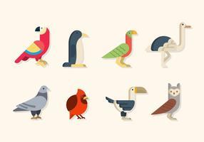 Vecteurs d'oiseaux plat