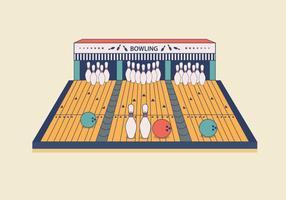 Vecteur piste de bowling