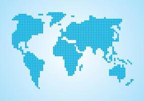 Carte du monde des points vecteur