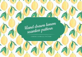 Hand Drawn Vector Motif de citron sans soudure