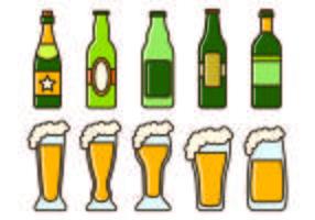 Ensemble d'icônes Cerveja vecteur
