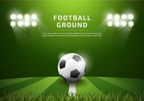 Footbal Ground Template Realistic Free Vector