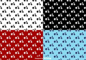 Scooter plate icônes seamless pattern - vector