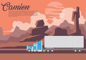 Contexte du vecteur Camion