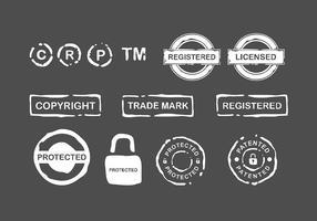 Timbre de copyright vecteur gratuit