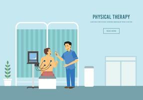 Physiothérapeute Gratuit Avec Illustration Patiente vecteur
