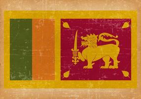 Drapeau grunge du Sri Lanka vecteur