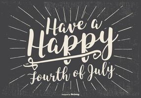 Rero Typographique Happy 4ème Juillet Illustration