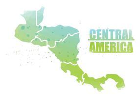 Carte de l'Amérique centrale vecteur