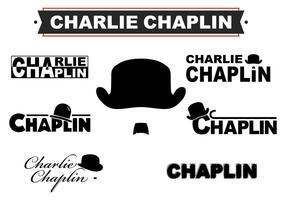 L'icône du logo Charlie Chaplin vecteur