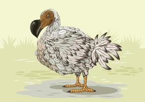 Dodo Bird Side Profile vecteur