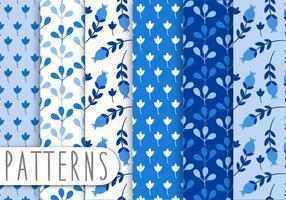 Ensemble de motifs d'ornement bleu vecteur