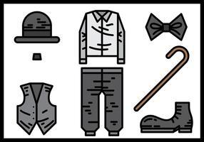 Charlie Chaplin Icons Vector