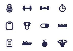 Paquet de vecteur icône Gym