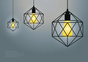 Lampe Prism et modèle de fond vecteur