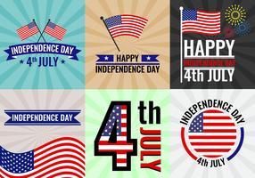 Vecteurs d'affiches de l'Indépendance