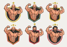 Collection de vecteur de badge pour logo de flexion