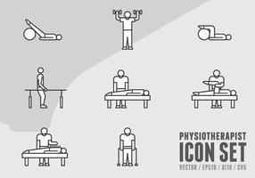 Icônes de physiothérapie vecteur