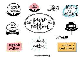 Étiquettes de coton vecteur