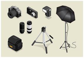 Vecteur de photographie isométrique gratuit