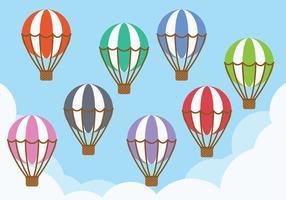 Vector d'icônes de ballon à air chaud