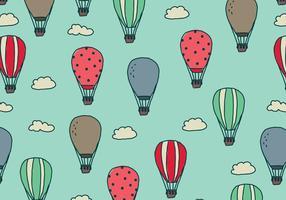 Ballons à air griffonnés dans le ciel vecteur