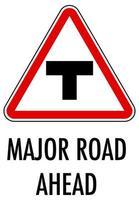 panneau de signalisation rouge sur fond blanc