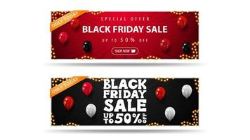 seulement aujourd'hui, bannières de réduction de vente vendredi noir