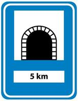 signe de tunnel isolé sur fond blanc