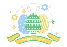 Illustration de vecteur de printemps heureuse de printemps gratuit