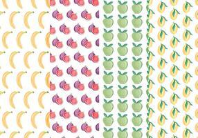 Vector Patterns de fruits colorés