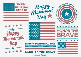 Collection d'étiquettes Memorial Day vecteur