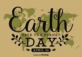 Design de l'affiche écrite à la main de la Terre