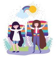 personnages de dessins animés lgbtqi pour la célébration de la fierté