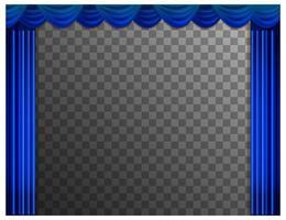 rideaux bleus avec fond transparent