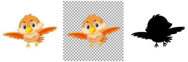 ensemble de caractère oiseau