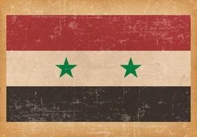 Drapeau grunge de la Syrie vecteur
